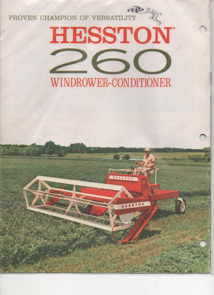 Hesston Windrower-Conditioner - Models 500 and 260 Brochure